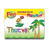 Combo 10 Hộp Flash card song ngữ Anh Việt - Lô tô cho trẻ mầm non - Chủ đề: Thực vật