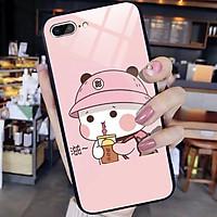 Ốp lưng kính in hình siêu cute Dành Cho iphone 6 s plus 7 8 plus Xr X s max 11 11 pro max 12 mini 12 pro max