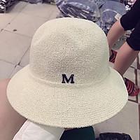 Mũ cói chữ M - nón cói vành nhỏ chống nắng, đi biển phong cách Hàn