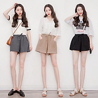 Quần short nữ đùi chất đũi sần nhẹ mát mặc ở nhà hay ra đường đều xinh chưa bao giờ là hết mốt cả
