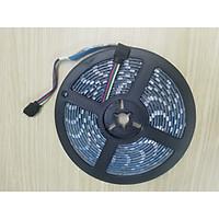 Bộ combo 02 cuộn dây đèn led đổi màu RGB 5050 chống thấm nước dài 5 mét -12V - có keo dán siêu tiết kiệm điện dùng trong trang trí - Màu sắc ngẫu nhiên