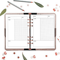 Giấy / Ruột refill sổ còng 6 lỗ A5 cho sinh viên, học tập 60 tờ, định lượng 100gsm của Self Planner