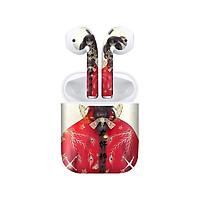 Miếng dán skin chống bẩn cho tai nghe AirPods in hình Điệp Vũ Mạn Tuyết - acp032 (bản không dây 1 và 2)