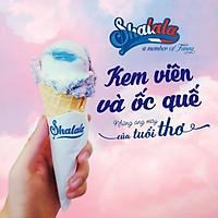 Shalala Ice Cream - Voucher 01 Phần kem viên và ốc quế trị giá 35k, Áp Dụng 9 Chi Nhánh