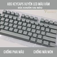 ABS Keycaps, Xuyên LED, In Khuôn Hai Màu cao cấp kiểu DoubleShot Không Phai Màu - Dùng cho bàn phím cơ.