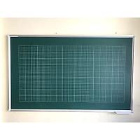 Bảng từ xanh viết phấn Hàn Quốc- kẻ ô ly tiểu học - Kích thước lớn