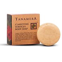 Xà bông tắm hoa dâm bụt Tanamera ( Clarifying hibiscus body soap )