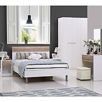 Bộ giường ngủ 1m6 5 món Ella AQ12020 - Trắng