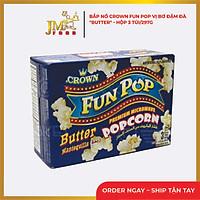 Bắp nổ Crown Fun Pop vị Bơ- hộp 3 túi/297g