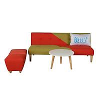 Trọn Bộ Sofa Phòng Khách _BizSofa Bed _MLF-183_(Sofa Giường + Bàn Tròn + 2 Ghế đôn)
