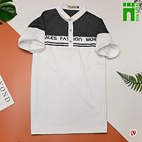 Áo thun nam nữ cotton, áo phông cổ trụ phối màu cá tính - NH SHOP