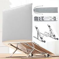 Giá Đỡ Laptop, Máy Tính Bảng Hợp Kim Nhôm 7 Mức Điều Chỉnh Chiều Cao Thông Thoáng Hỗ Trợ Tản Nhiệt Hàng Chính Hãng Tamayoko
