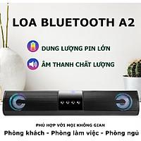 Loa Bluetooth, Loa Vi Tính BUMTEK A2 dáng dài 2 loa cực đỉnh - Âm Thanh Cực Chất - Kiểu dáng sang trọng hỗ trợ thẻ nhớ, đài FM - Hàng chính hãng