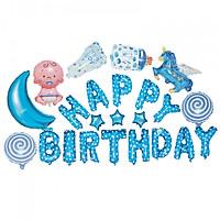 Set bóng trang trí sinh nhật Baby 23 chi tiết kèm băng dính chuyên dụng