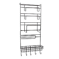 Heavy-duty Kitchen Rack Detachable Refrigerator Hanging Storage Rack Organizer Shelf Space Saver Fridge Side Wall