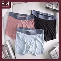 Hộp 3 quần sịp nam boxer chất thun lạnh siêu mỏng, kháng khuẩn, mặt vải mềm mịn, màu ngẫu nhiên – FORMEN SHOP – FMCB3QS015