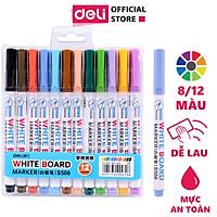 Bút dạ đa năng Deli - 8/12 màu - Viết trên nhiều chất liệu - 1 hộp - S504/S506