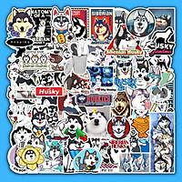 Set 50 Hình Sticker Chống Nước | Chủ Đề Husky