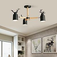 Đèn chùm MATASI sừng hươu 3 tay trang trí nội thất hiện đại, sang trọng - kèm bóng LED chuyên dụng.