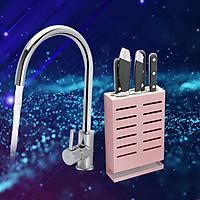 Combo giá để dao hợp kim nhôm K-003 và vòi bếp bằng đồng KF-923 cao cấp Hiwin CB9-07