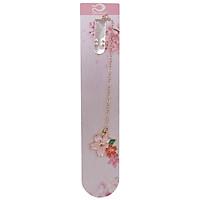Bookmark Kẹp Sách Kim Loại Phối Charm Hình Hoa Sakura - Mẫu 2