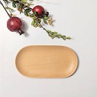 Khay oval gỗ beech
