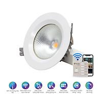 Đèn LED âm trần điều khiển từ xa bằng Bluetooth/Wi-Fi Rạng Đông model AT14.BLE 90/9W