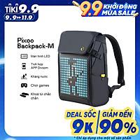 Balo Divoom – Pixoo Backpack-M có màn hình LED tùy chỉnh bằng APP, ngăn chứa lớn vừa Laptop 14 Inch, chống thấm nước cho hoạt động ngoài trời
