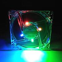 Quạt tản nhiệt Case thùng máy 80mm ( 8cm ) LED, tặng kèm ốc