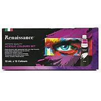 Bộ Màu Vẽ Renaissance Acrylic 12ml (12 Màu)