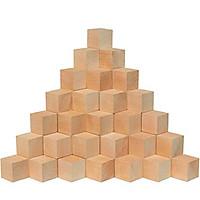 100 hạt Cube - khối gỗ hình lập phương sáng tạo xếp hình