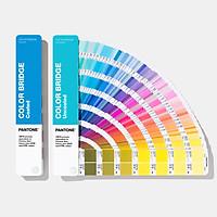 Bộ 2 thanh bảng màu Pantone C U Color Bridge GP6102A phiên bản năm 2020 Coated Uncoated 2,139 màu Solid, CMYK, HTML, RGB dành cho ngành thiết kế đồ họa nhập khẩu từ PANTONE LLC Mỹ