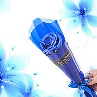 Hoa hồng sáp 1 bông V.3 - Màu xanh dương