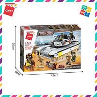 Bộ Đồ Chơi Xếp Hình Thông Minh Lego Quân Sự Qman Xe Tăng Hồng Quân 1721 Cho Trẻ Từ 6 Tuổi 482 Mảnh Ghép 5 Minifigures