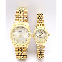 Cặp Đồng hồ Nam Nữ Halei HL348 dây vàng + Tặng Combo TẨY DA CHẾT APPLE WHITE PELLING GEL BEAUSKIN chính hãng