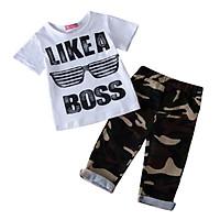 Summer newborn baby Boy Clothes bebes Short Sleeve Cotton T-shirt Tops+Denim Shorts Jean Outfit infant Clothing 2PCS/Set 1-4Y