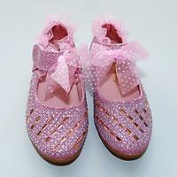 Giày búp bê bé gái kim tuyến đính đá - 2 tuổi đến 15 tuổi