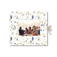 Sổ tay dán ảnh - Crabit Notebuck - Ruột trơn - Marble (19x21cm)
