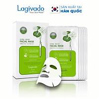 Combo 8 Mặt nạ dưỡng ẩm trắng da giúp kiềm dầu và mụn Hàn Quốc Lagivado Hydra Calming Facial Mask 23g/miếng