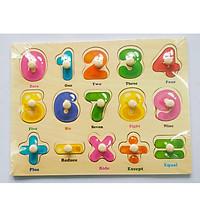 5 Bảng đồ chơi ghép gỗ có núm cho bé  Mã 004
