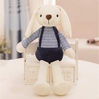 Gấu bông Thỏ trắng tai dài mặc yếm cao cấp 70cm