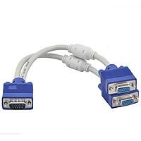 Cáp chia VGA 1 ra 2 Trắng Xanh