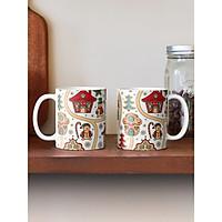 Cốc sứ uống trà cà phê in hình giáng sinh an lành- Quà tặng noel ý nghĩa
