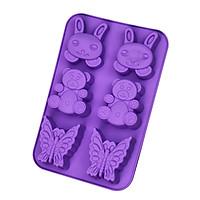 Khuôn rau câu Silicon thỏ con, gấu, bướm