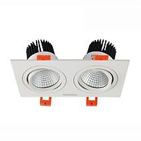 Đèn Led Spotlight đôi trắng FK-SLD04-14-2x7W-220V-IP20-3000K