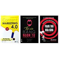 Combo 3 cuốn sách:Content Marketing 4.0: Nội dung hay, bán bay kho hàng-Thôi miên bằng ngôn từ-Trạng thái mua hàngtv