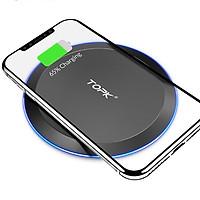 TOPK Đế sạc nhanh không dây tiện dụng cho iPhone X / XS Max XR 8 Plus / Samsung Hàng Chính Hãng