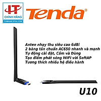 USB kết nối Wifi Tenda U10 chuẩn AC tốc độ 650Mbps - Hàng Chính Hãng Microsun Phân Phối