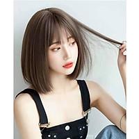 [ KÈM LƯỚI VÀ LƯỢC, 2117 ] Tóc giả nữ nguyên đầu cup ngắn, tóc vic, tóc giả có rãnh da đầu, tóc giả ngắn , tóc giả bộ cả đầu mái thưa , tóc giả hàn quốc, tóc giả cao cấp
