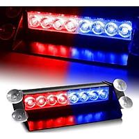 Đèn công an đèn cảnh sát xanh đỏ dùng trên tap lô ô tô xe hơi xe máy SS72